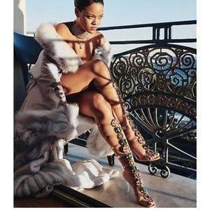 New Manolo Blahnik X Rihanna Poison Ivy Gladiator